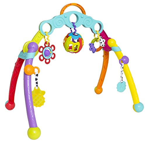 Infant Play Gym - Playgro 0185475 Fold and Go Playgym STEM babygym for Baby Infant Toddler