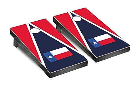 Gameroom EA-AAXQ-GC0C Texas Flag Triangle Cornhole Bean Bag Toss Game (The Texas Triangle)