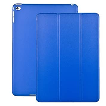 KHOMO Funda iPad Air 2 - Carcasa Azul Oscura Ultra Delgada y Ligéra con Smart Cover para Apple iPad Air 2 - Dark Blue