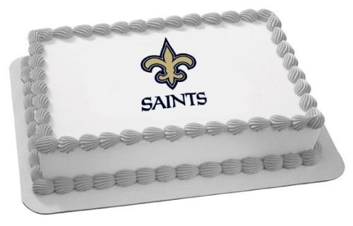 1/4 Sheet ~ NFL New Orleans Saints Football ~ Edible Image Cake/Cupcake Topper!!!