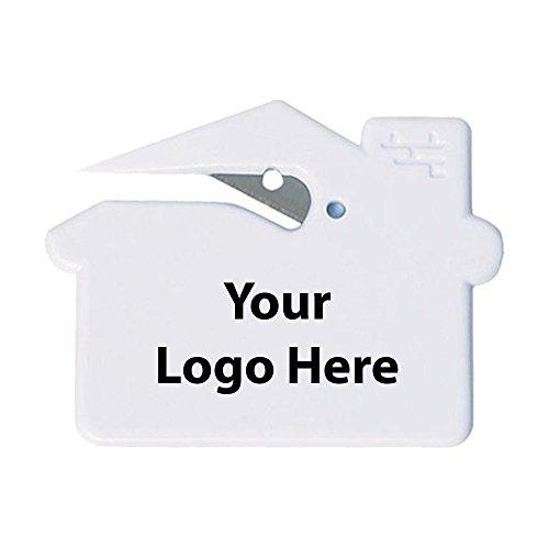 House Shape Slitter - 300 Quantity - $0.69 Each - Promotional Product/Bulk/Branded with Your Logo/Customized