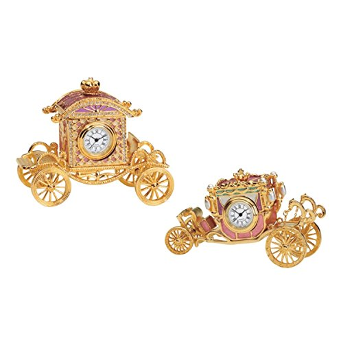 Design Toscano Renaissance and Baroque Carriage Clocks Enamel