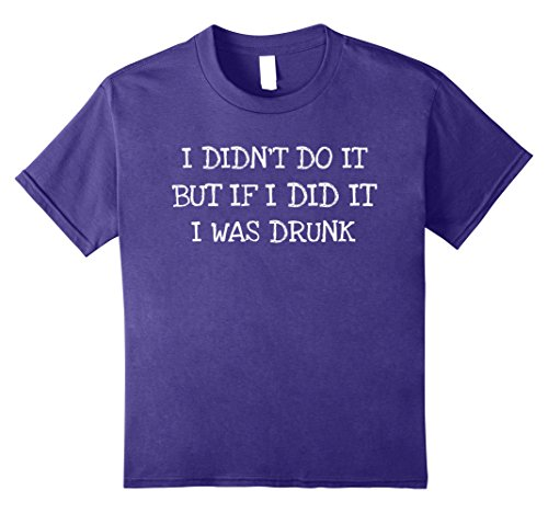 Kids I Didn't Do It- Funny Saying Gift Tee Shirt 12 Purple