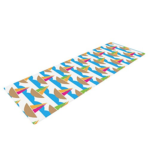 "UPC 760999270036, Kess InHouse Apple Kaur Designs ""Beside the Seaside"" Yoga Exercise Mat, Boats, 72 x 24-Inch"