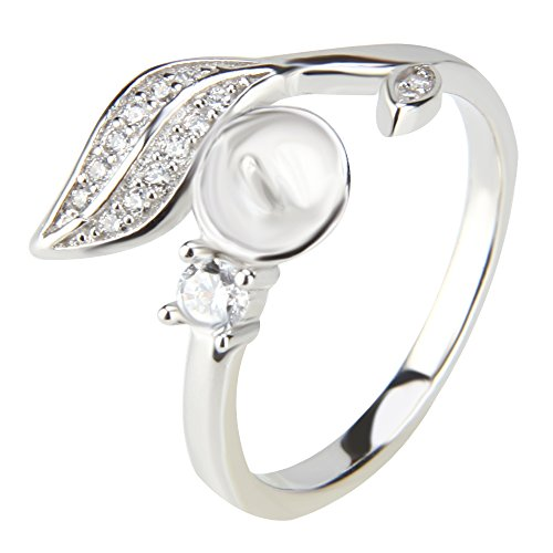 Fine Jewelry of 925 Sterling Silver DIY Pearl Ring Mounting/Accessories/Fitting,6 ()