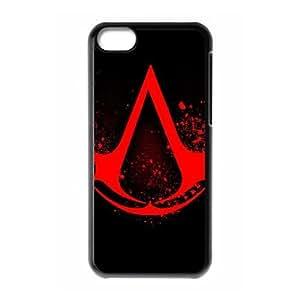 iphone5c Case (TPU),iphone5c Cell phone case Black for Assassins Creed Logo - KKHG5345084