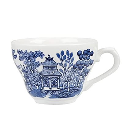 Churchill Blue Willow Fine China Earthenware Tea Cup 6.8 Oz Made In England  sc 1 st  Amazon.com & Amazon.com | Churchill Blue Willow Fine China Earthenware Tea Cup ...