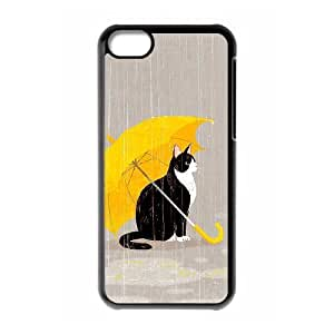 Case For iPhone 5C, Cats Case For iPhone 5C, Black Yearinspace125955
