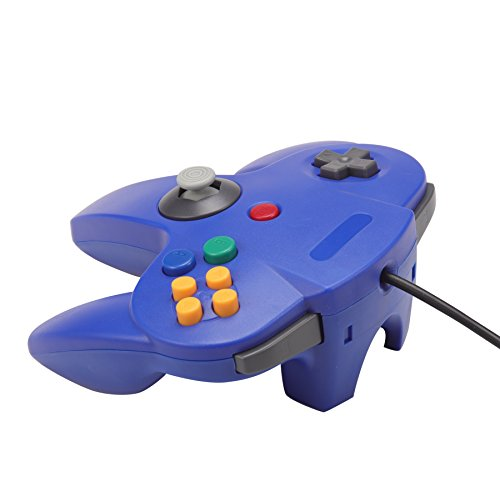 Joxde 1 Pack Upgraded Joystick Classic Wired Controller for N64 Gamepad Console (Blue2) by Joxde (Image #3)