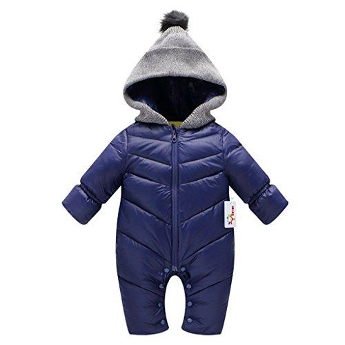 d19cf7e8f2 Baby Romper Winter Jumpsuit Infant Snowsuit Vine Hooded Bodysuits
