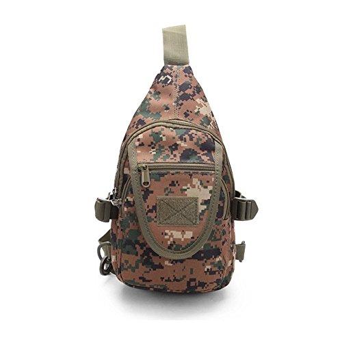 Wewod Mochila de Pecho,Mochilas Escolares de Hombro,Mochila de Un Hombro Militar,Sling Bag for Men 20 x 28 x 10 cm (L*H*W) Colorido-C