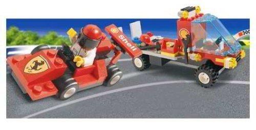 (LEGO System Set #1253 Shell Car Transporter with Ferrari Race Car )
