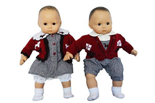 GINGHAM SWEATER SET WITH SCOTTIE TERRIERS FOR AMERICAN GI...