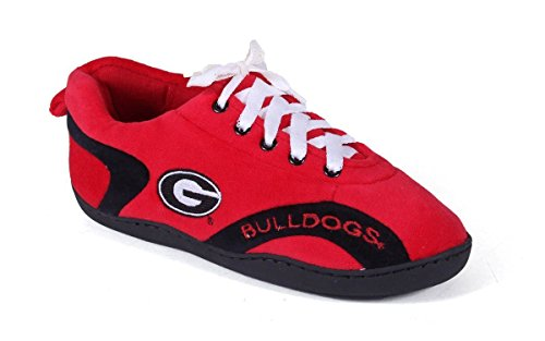 GEO05-4 - Georgia Bulldogs - XL - Happy Feet Mens and Womens All Around Slippers ()