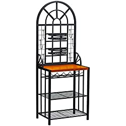 SEI Dome Bakers Rack, Black