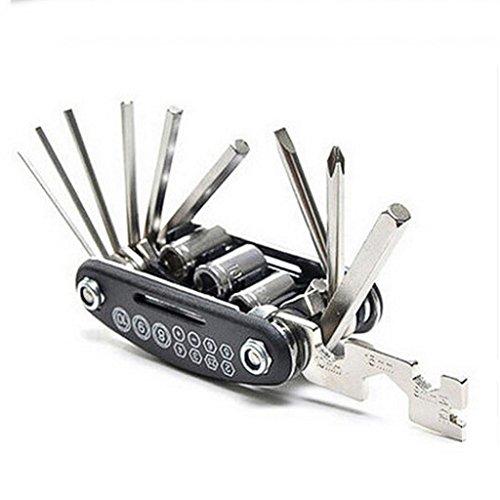 geshiintel 16in1 Bicycle Mountain Bike Repair Tool Kit Hex S