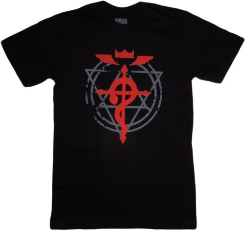Fullmetal Alchemist Brotherhood: Flamel Cross T-Shirt, Adult Medium