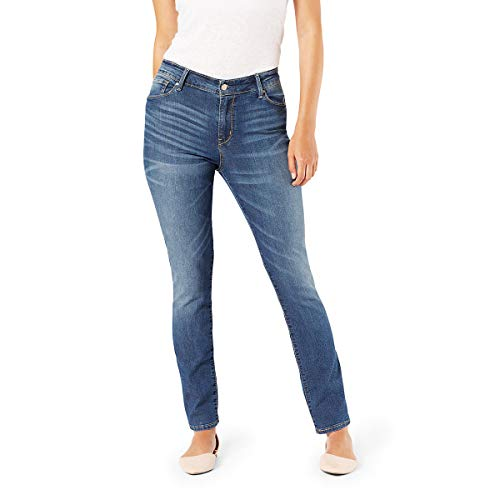 (Signature by Levi Strauss & Co. Gold Label Women's Modern Straight Jeans, Cape Town, 16 Short)