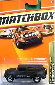 Matchbox 2010, Hummer H3 83/100, Outdoor Sportsman. 1:64 (Matchbox Lighter)