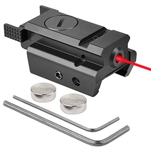 EZshoot Red Dot Laser Sight Tactical 20mm Standard Picatinny Weaver Rail for Pistol Handgun Gun Rifle