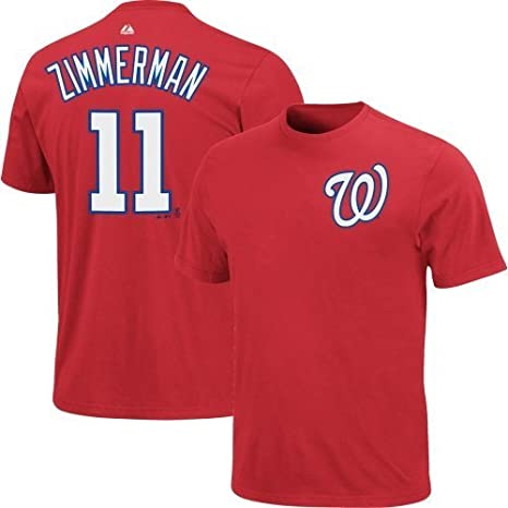 the latest 166a8 d5f1c Majestic Athletic Ryan Zimmerman Washington Nationals #11 MLB Youth Player  Name & Number T-shirt Red