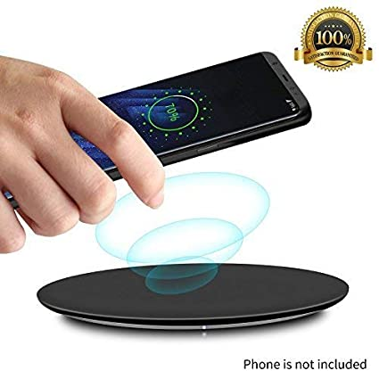 Wireless Charger Pad, UGpine QI Wireless Charging Pad, Power Charger 7.5W Compatible iPhoneX/XS/XR/XS Max/8/8+,10W Compatible Samsung Galaxy Note 5/S6 ...