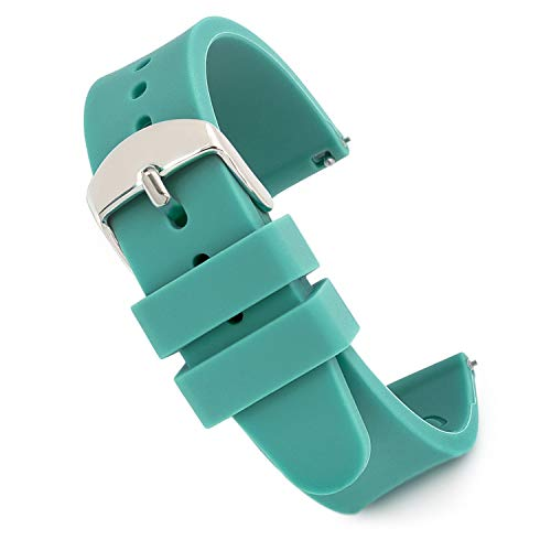 Speidel Scrub Watch Replacement 18mm Teal Silicone Rubber Band by Speidel