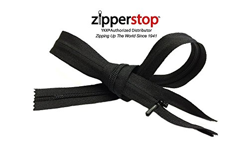 (ZipperStop Wholesale Authorized Distributor YKK #3 Coil Invisible Zipper Closed Bottom 3pcs (14