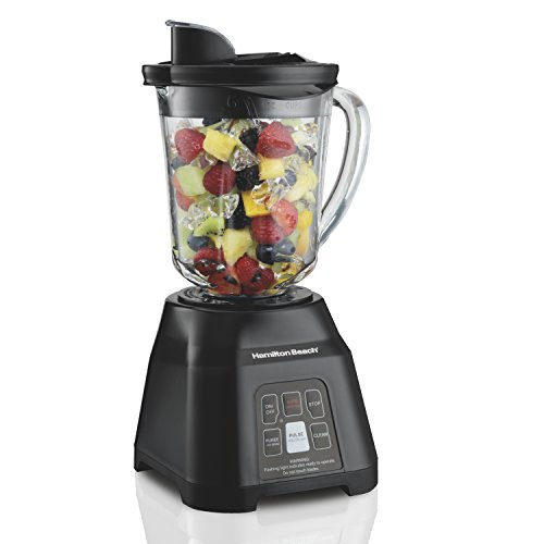 Hamilton Beach Smart Blender with 5 Functions & 40oz Glass Jar for Shakes and Smoothies, Black (56207) (Hamilton Beach 14 Oz Single Serve Blender Black)