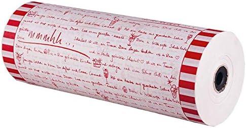 1x Eis-Einschlagpapier mmmhhh korallenrot Kraftpapier weiß 50 cm breit 7 kg
