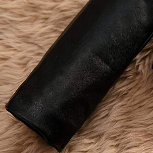 rosa Donna Casual Autunno Cappotto In Sintetica Lanceyy Giacche Lunga Invernali Pelliccia Corto Ragazze A Fashion Eleganti Outwear Giacca Stlie Similpelle Manica Grazioso EwxxqS1