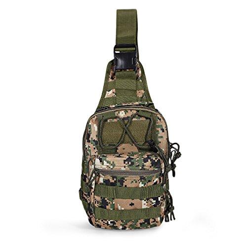 DWEFVS Outdoor Shoulder Military Backpack Oxford Camping Travel Hiking Trekking Runsacks Bag JUNGLE CAMOUFLAGE by DWEFVS