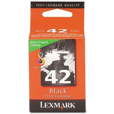 Lexmarkブランドx6570- # 42 – 1-standard Return Progブラック( Office Supply /インクジェットインク) B004MSSTLI