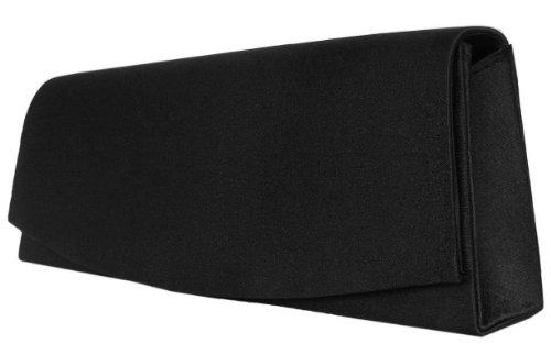 Edle Handtasche, Abendtasche,26x11 cm, Schwarz