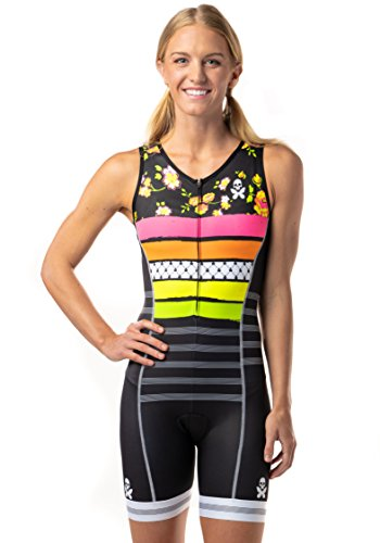 Female Suit Tri (Betty Designs Trisuit For Women by Breathable Compressive Support with Lightweight and Moisture-Wicking Fabric | UPF 50+ Protection | (S, World Champion))