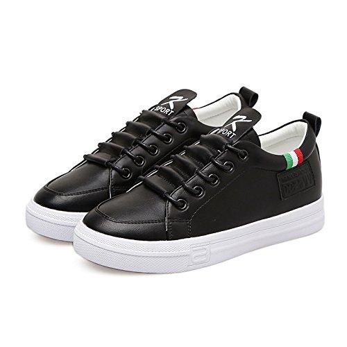 35 au Chaussure Chaussure Mode Femme Sneaker Blanche Sport de JRenok Printemps Confortable 39 Cuir Noir en Petite Basket RHxZwntqP