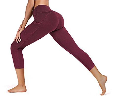 662158e157c40 ... IUGA High Waist Yoga Pants with Pockets, Tummy Control, Workout Pants  for Women 4 ...