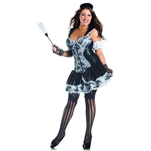 French Maid Body Shaper Adult Costume   Plus Size 3X, Multicoloured -