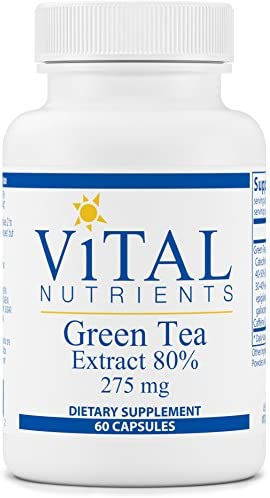 Vital Nutrients – Green Tea Extract 275 mg – Potent Antioxidant Immune Enhancer – 60 Vegetarian Capsules per Bottle