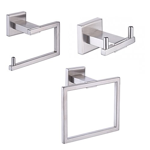 KES LA242-31 Bathroom Accessories Tissue Holder/Double Hook/Towel Ring SUS304 Stainless Steel Wall Mount, Brushed Finish (Toilet Steel Tissue Stainless)