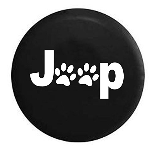 Jeep Paw Prints Dog Lover Spare Tire Cover Black 32-33 in (Wheels Tires For Jeep Wrangler compare prices)