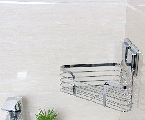 Bathroom Corner Shower Caddy, Triangle Storage Shelf Self Adhesive Bath  Caddy Basket Shampoo Holder, Kitchen Organizer No Drilling (Triangle  Basket)   Buy ...