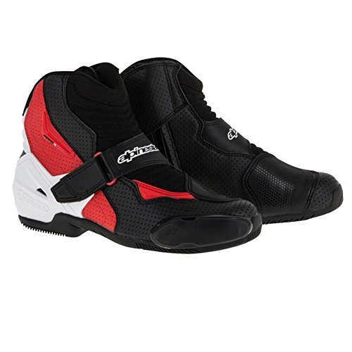 Vented Racing Boots - Alpinestars Men's SMX-1 R Vented Black/White/Red Boots 3401-0453