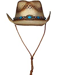 Little Kids Paper Straw Cowboy/Cowgirl W/Band & Buckle (One Size)