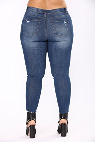 Vaqueros LuShmily Blue XXX Jeans Mujer Large Multicolor Women Dark para Hwqw6d07