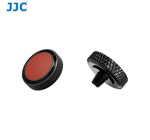 JJCデラックスカメラソフトリリースボタ 銅+合皮 16色 Fuji Fujifilm x-t20 x-t10 x-t2 X - pro1 x100 x100s x100t x30 x20 Sony rx1r rx10 II IV Leica m10 etc (本体:ブラック+PU:ブラウン)  本体:ブラック+PU:ブラウン B07FC7CSKD