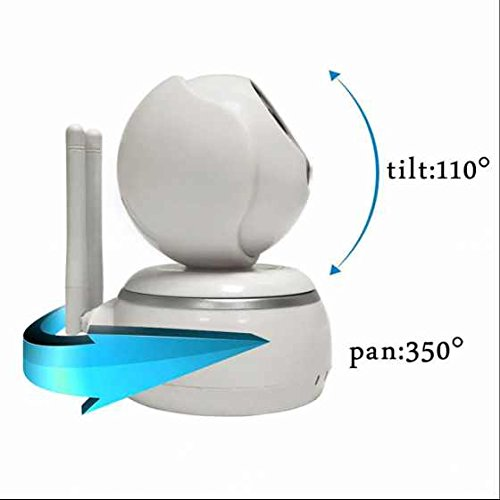 Wireless ip kamera Alarmanlagen Alarm Funktion Zoom-Steuerung ,Zwei Wege Video,Indoor/Outdoor für Tier/Kinderfrau/Ältere einschalten/spielen Pan/ Tilt fernbedingte Strömung Videokamera