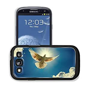 Blue Animals Doves Sky Clouds Samsung I9300 Galaxy S3 Snap Cover Premium Aluminium Design Back Plate Case Customized Made to Order Support Ready 5 3/8 inch (136mm) x 2 7/8 inch (73mm) x 7/16 inch (11mm) MSD Galaxy_S3 Professional Metal Cases Touch Accesso