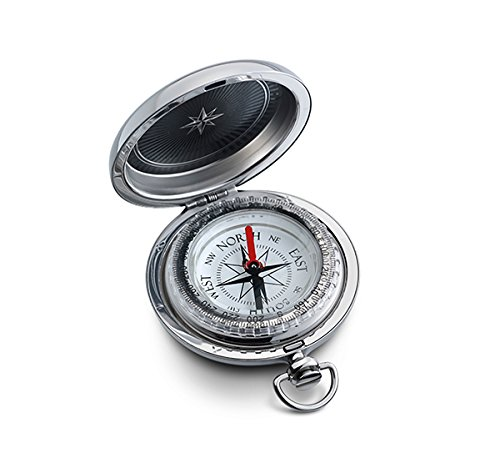 Engraved Explorer Pocket Compass with White Dial Personalized Portable Lenastic Military Navigational Tool for Hiking Camping by - Watch Compass Pocket