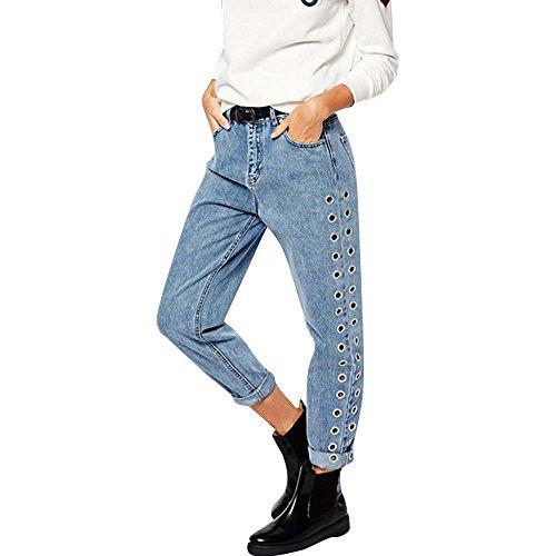 Kehen Women Aura Instantly Slimming Mid Rise Boot Cut Jean Blue Large - Instantly Slimming Aura Jeans